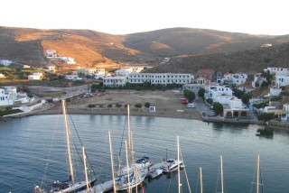 about kythnos porto klaras local landscape