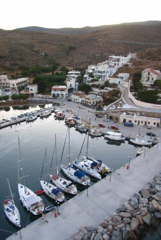 about kythnos porto klaras luxury boats in the port of the island