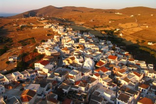 about kythnos porto klaras local Greek village with picturesque houses