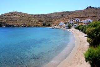beaches porto klaras amazing blue sea in Kythnos, Cyclades