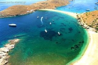beaches porto klaras kolona beach is ideal for swimming and sailing too