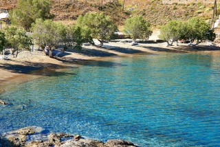 beaches porto klaras turquoise waters of kythnos sandy beach