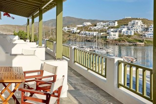 family suites porto klaras big balcony with sea view and outdoor furniture
