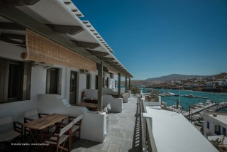 gallery porto klaras big balconies with Aegean sea view in Kythnos