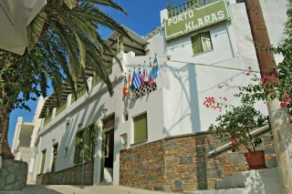 gallery porto klaras reception entrance of our Kythnos apartments and the garden