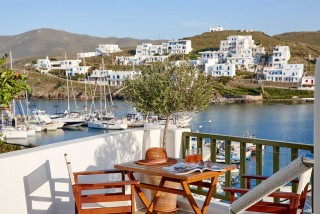 gallery porto klaras veranda with panoramic sea view of Kythnos island