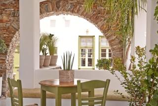 gallery porto klaras outdoor sitting area next to garden