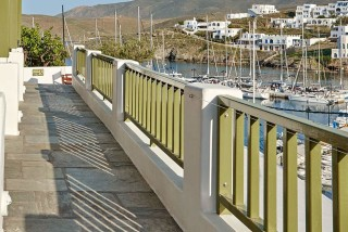 gallery porto klaras apartments with big sea view veranda in Kythnos