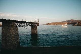 history porto klaras kythnos island located in the Aegean Sea