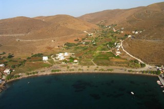 locations porto klaras beautiful beach on kytnos island in the cyclades
