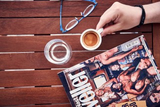 superior studios porto klaras outdoor table where you can drink your espresso and read a magazine to relax