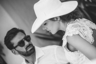 weddings porto klaras groom and bride in kythnos