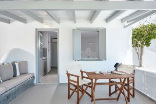 VIP studios porto klaras big veranda with outdoor furniture and romantic view