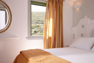 superior studio porto klaras view of Kythnos island from the double bed