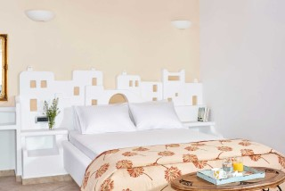superior studio porto klaras double bedroom where you can enjoy your breakfast