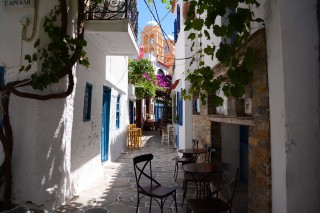 about kythnos porto klaras picturesque small roads in Kythnos