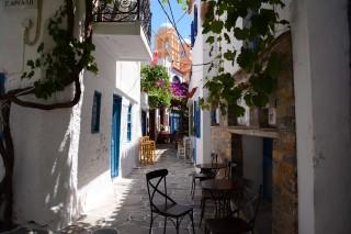 about kythnos porto klaras picturesque small roads in Kythnos