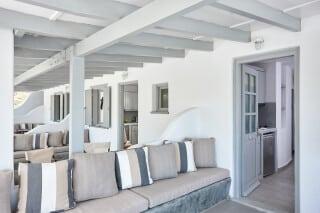 VIP studios porto klaras cozy sofa and lounge room area