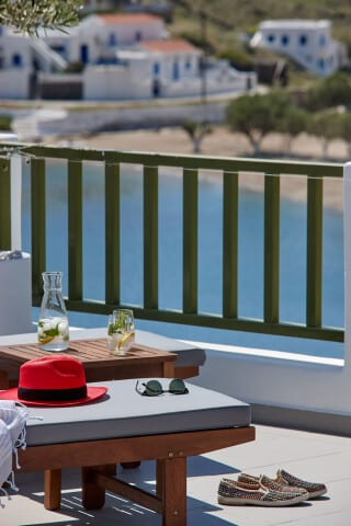 VIP studios porto klaras sunbeds with amazing view of the sea and the village
